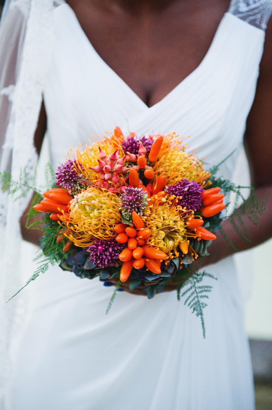 bouquet de mariage coloré automne