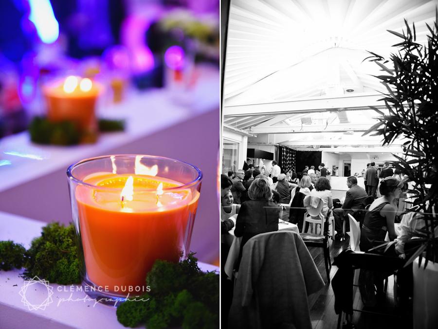 un mariage orange et blanc sur la butte montmartre