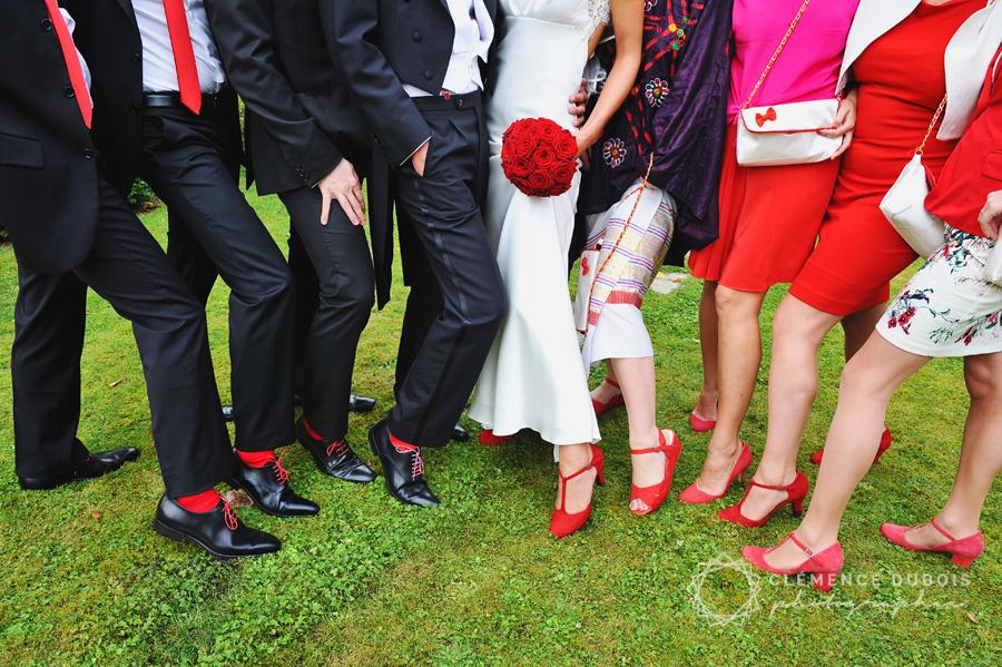 les chaussures des mariés et des témoins