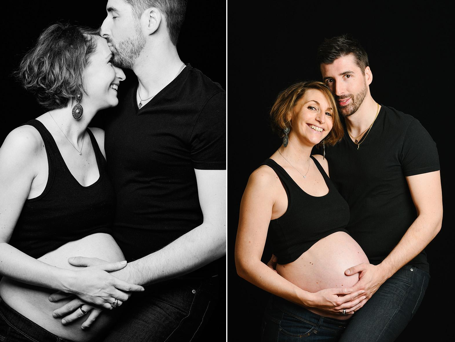seance couple maternité en studio