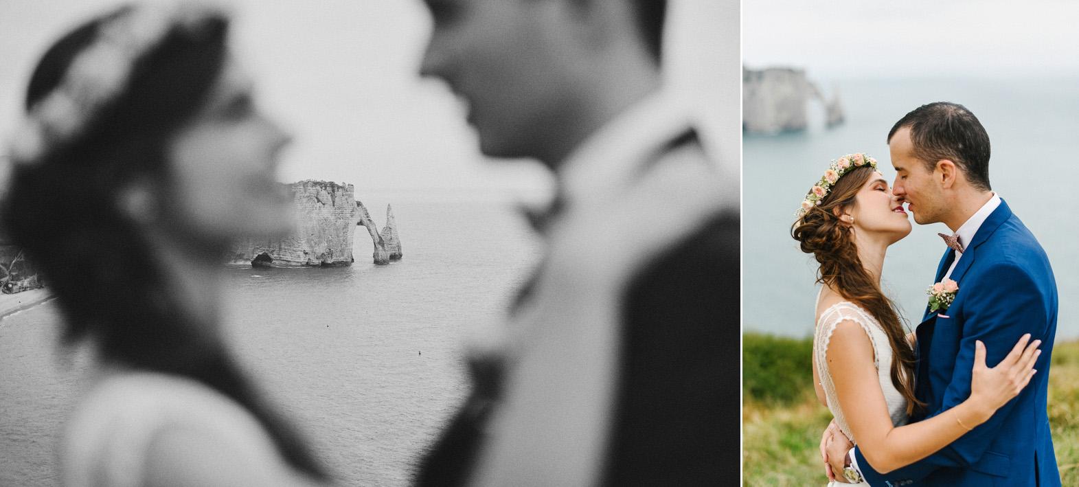 séance trash the dress-day after au bord de la mer en Normandie