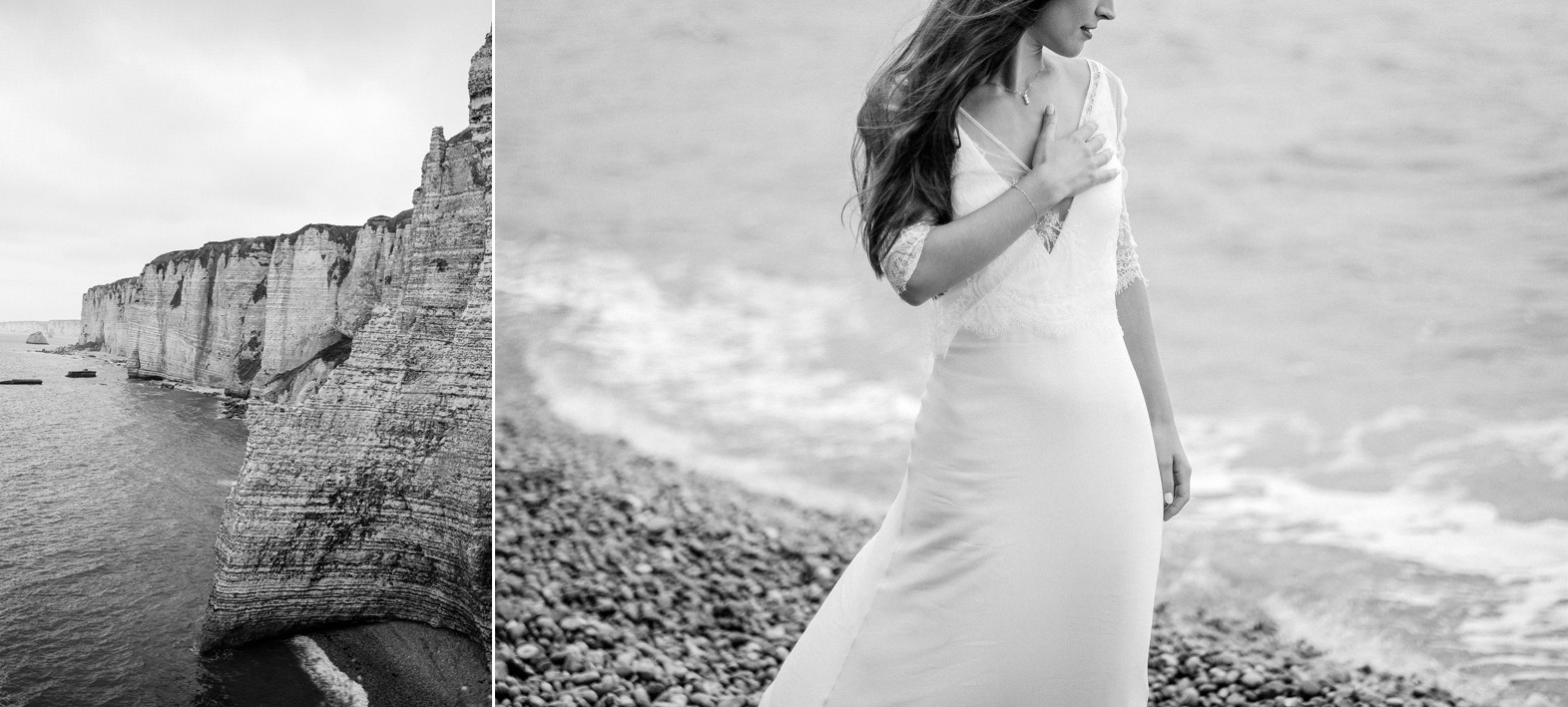 séance trash the dress-day after au bord de la mer en Normandie