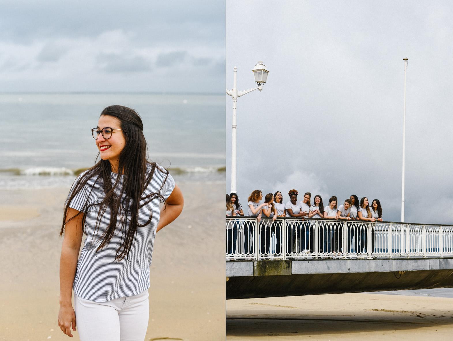 portrait de femme sur la plage