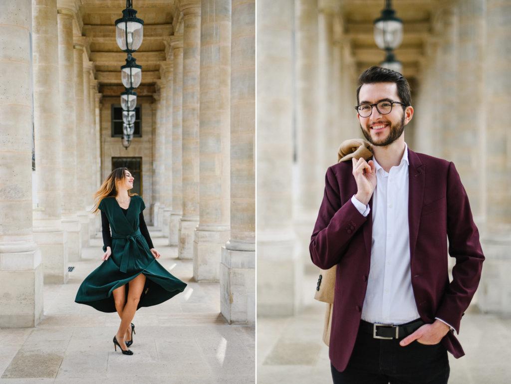 les portraits d'un homme et d'une femme à Paris