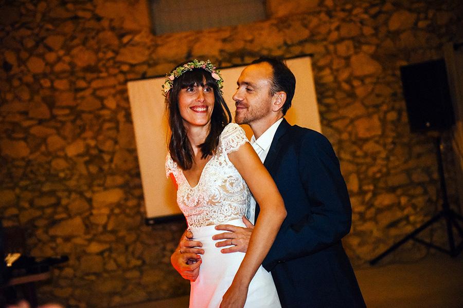 ouverture de bal par les mariés pendant la soirée de mariage