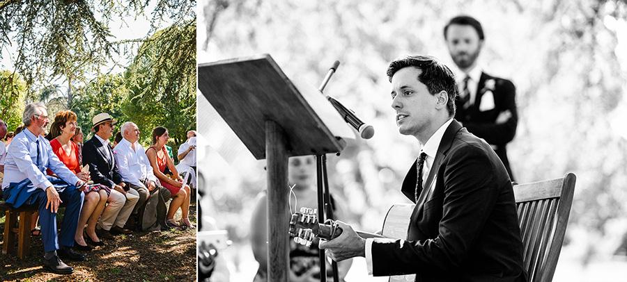 les discours pendant la cérémonie laïque sous un arbre dans le lot-et-garonne