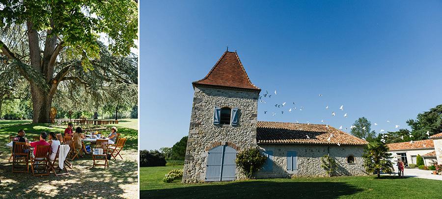 Le lieu de réception du mariage champêtre dans le Lot-et-Garonne