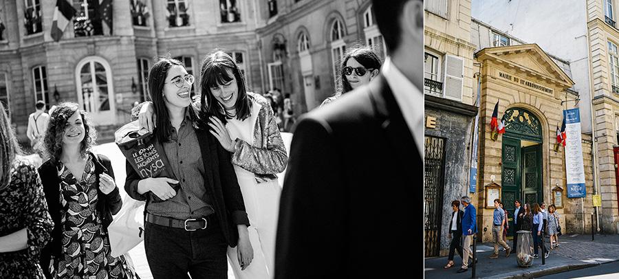 un mariage à la mairie du 9ème à Paris