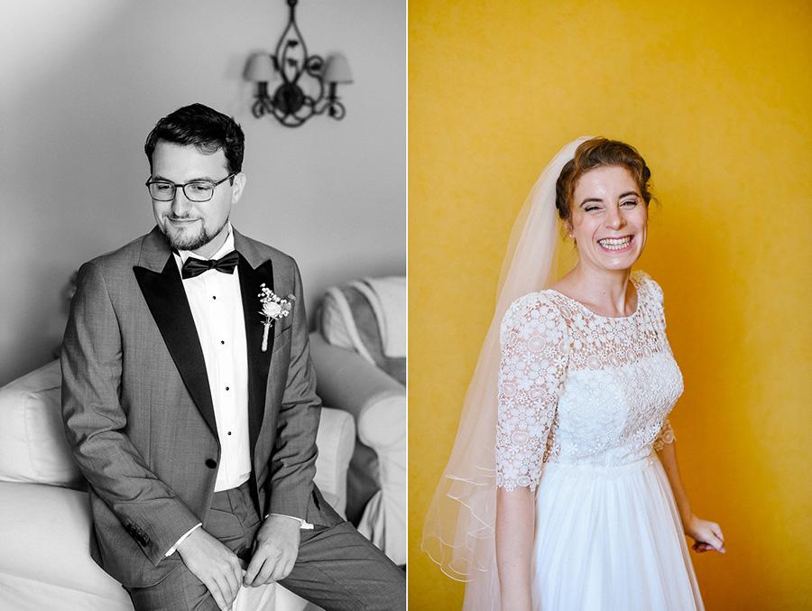 portraits de futurs mariés avant la cérémonie civile
