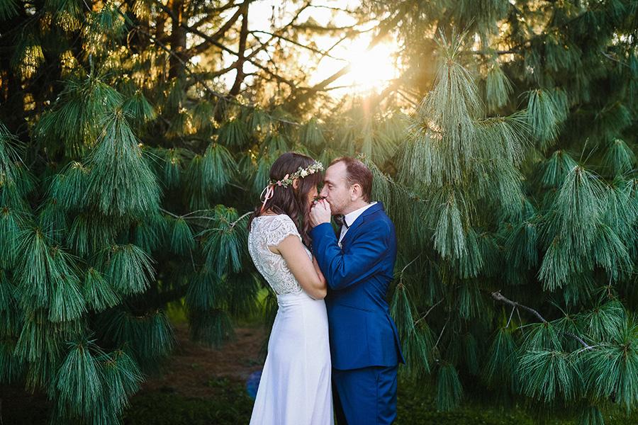 un couple s'embrasse devant un bel arbre