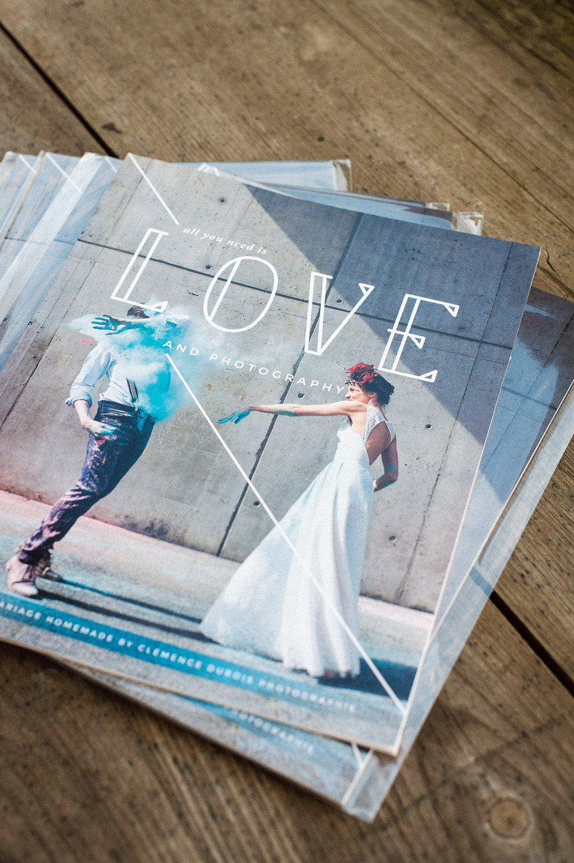 détail d'un magazine de mariage